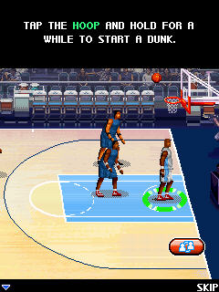 Игра Touch NBA Pro Basketball для Samsung S3650
