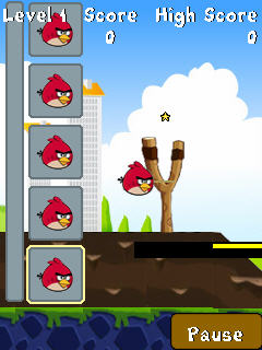 Игра Angry Birds in the City для Samsung Corby S3650