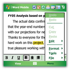 Office mobile - Word Excel для Samsung s3650 Corby